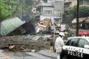 В Японии спасли 19 человек после мощного оползня
