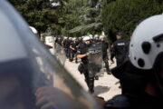 Черногорская полиция устроила разгон националистов с помощью слезоточивого газа: Общество: Мир: Lenta.ru